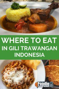 Gili Trawangan is the largest of the three Gili Islands located near the northwest coast of Lombok, Indonesia. In response to the surge of tourism it has recently experienced, Gil T (as it's known) now has a large selection of dining choices available. There's something for every visitor on this small island.