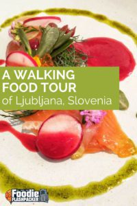 One of the highlights of my time in Slovenia was joining Ljubljananjam for a walking food tour of Ljubljana. I honestly had no preconceptions or expectations about Slovenian food before I arrived, but I was happy to learn about the phenomenal and varied food the country has to offer.