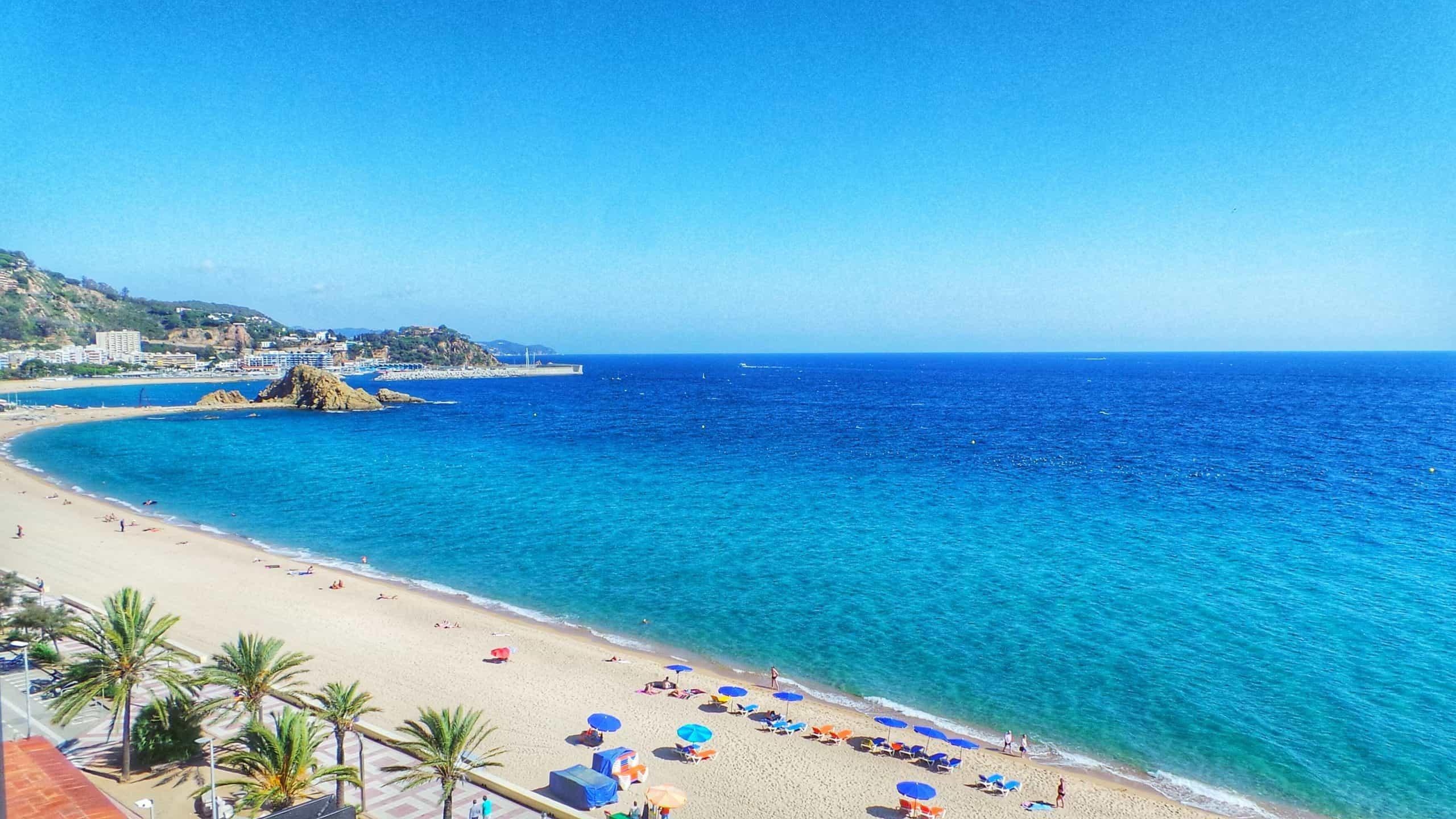 blanes costa brava spain beach