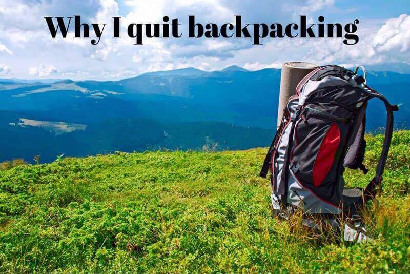 Click on the photo to read why I quit backpacking for travel.