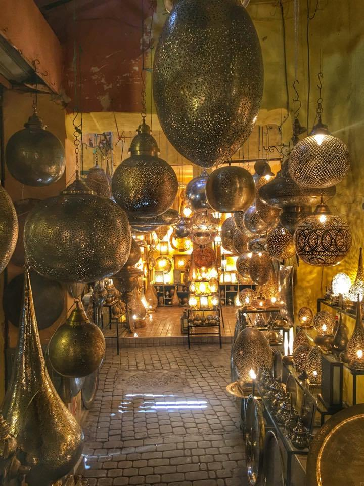 The medina was full of these colorful shops selling handmade goods. The busy, bustling, crowded and wonderful city of Marrakech, Morocco.