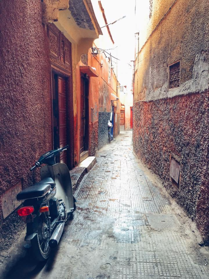 The busy, bustling, crowded and wonderful city of Marrakech, Morocco.