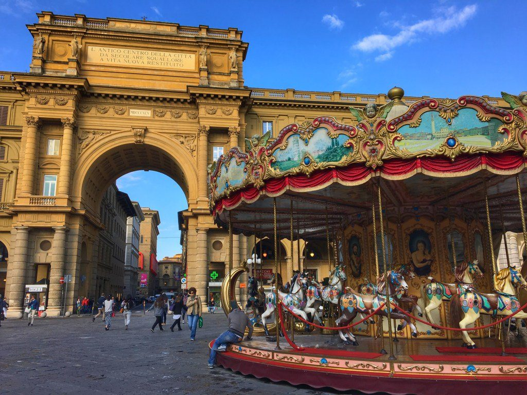 carousel Piazza dellaRepubblica - How to experience Florence, Italy in 24 hours.