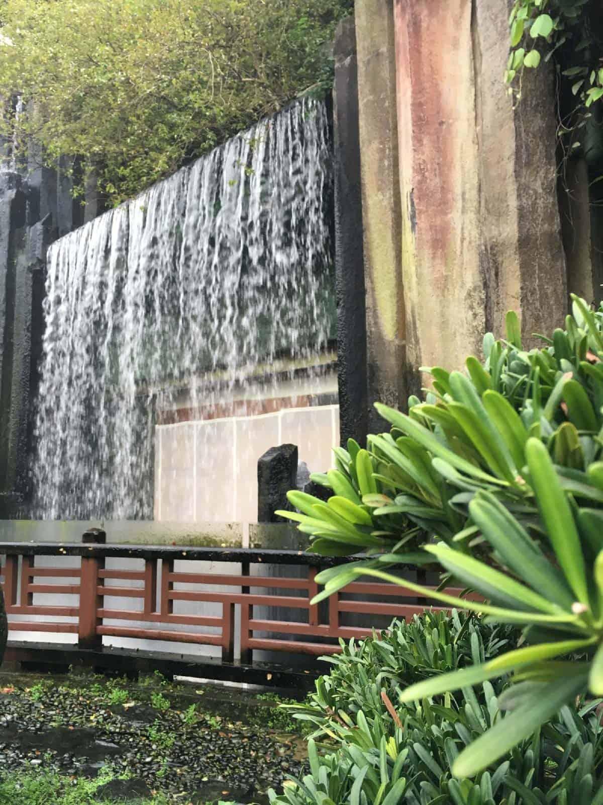 Hong Kong Nan Lian Garden waterfall