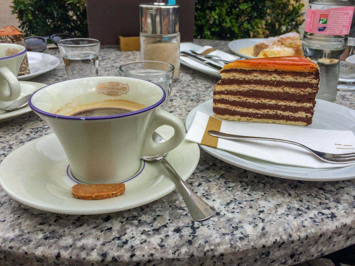 dobos cake and coffee best things to do in Budapest